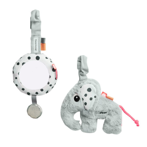 "Done By Deer ""To go activity set"" grey"