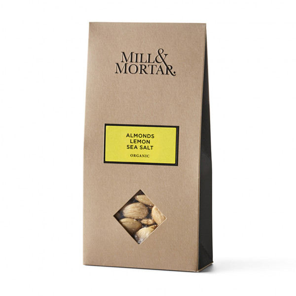 Mill&Mortar, Mandeln mit Zitrone und Meersalz, Bio, 100g