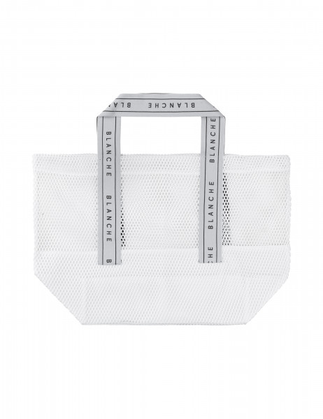 BLANCHE, Tote Logo Bag, White
