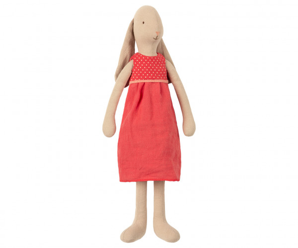 "Maileg Bunny Size 3 ""Dress Red"""