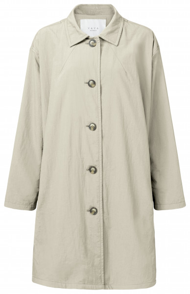YAYA, Oversized Trench Coat, Pale Sand, Size 40