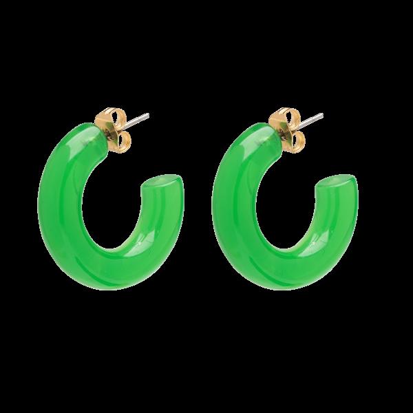 Anna+Nina Jellybean Earrings, Green Parrot