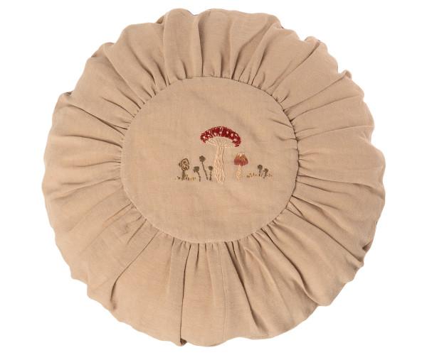 Maileg, großes rundes Kissen, Sand Mushroom