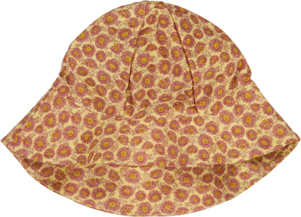 Wheat, UV Sun Hat, rose flowers
