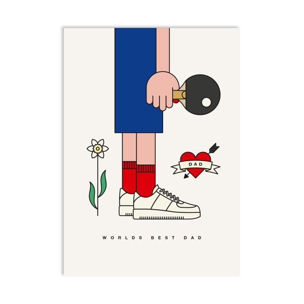 red fries, Postcard, Worlds Best Dad