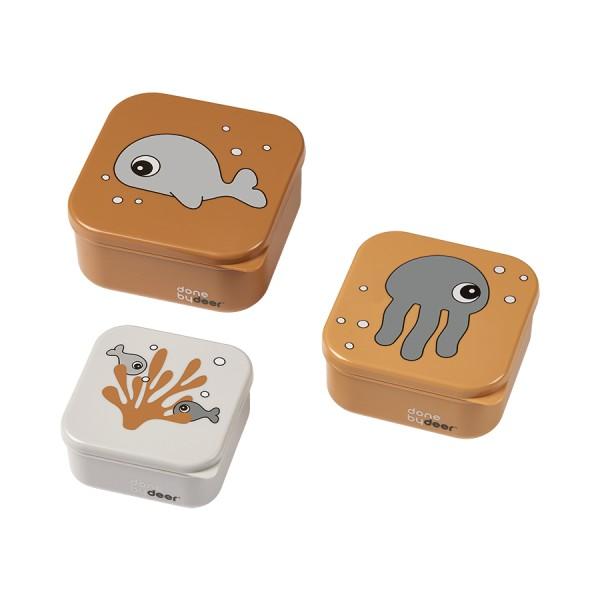 Snack Box Set, Sea friends Mustard