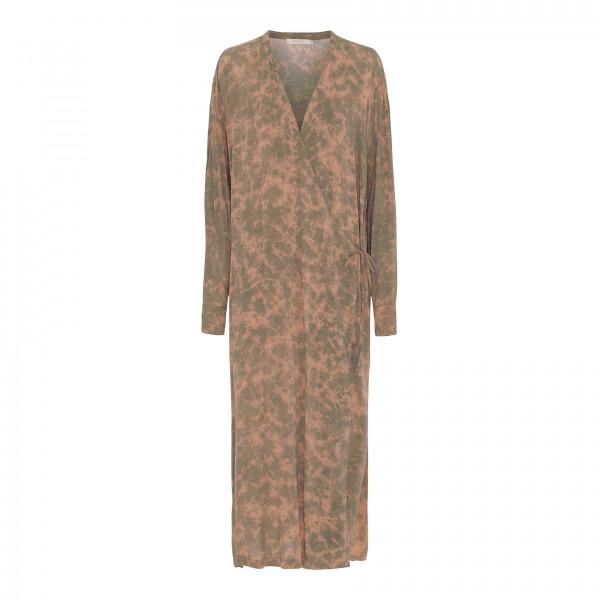 "Rabens Saloner ""Madalena"" Kaleidoscope Long Kimono Dress, Slate, S/M"