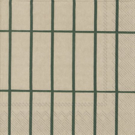Marimekko, Servietten, Tiliskivi, Beige grün