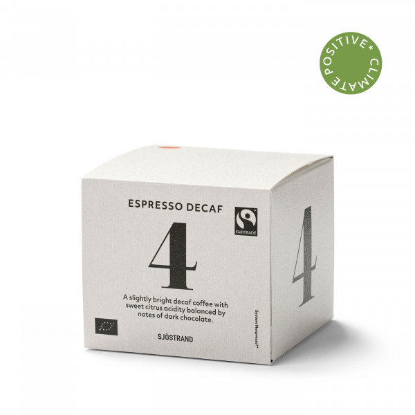 Sjöstrand, N°4 Espresso Decaf (10 Kapseln)