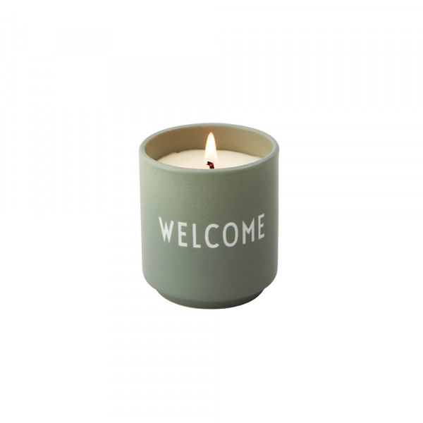 Design Letters, Scented Candle, WELCOME, Green