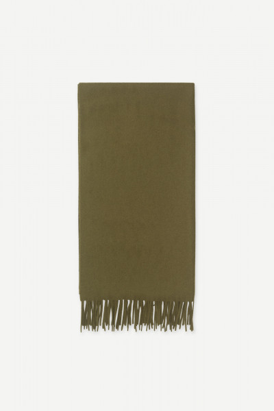 Samsøe Samsøe, Accola maxi scarf, dark olive