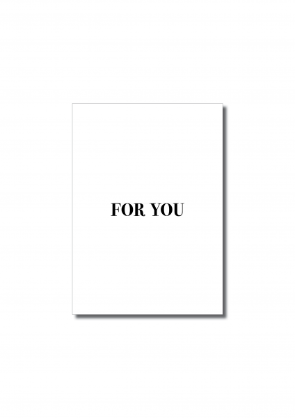 """For You"" Postkarte"