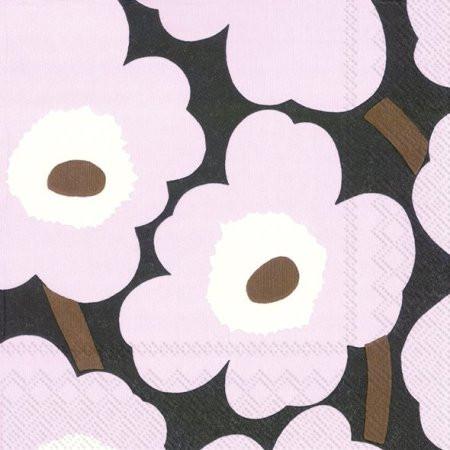 Marimekko, Servietten Unikko, rose