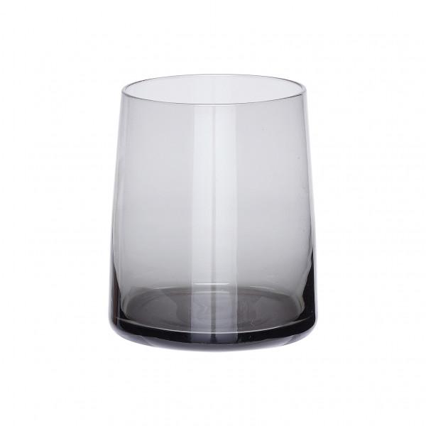 Hübsch, Trinkglas, Grau, ø8xh10cm