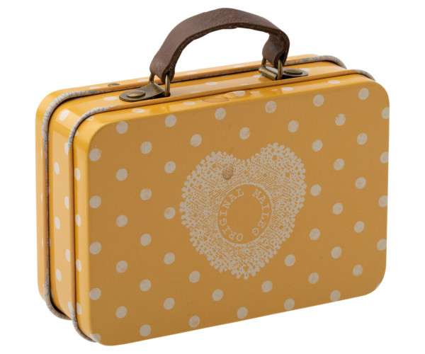 Maileg, Suitcase, metal, yellow dot