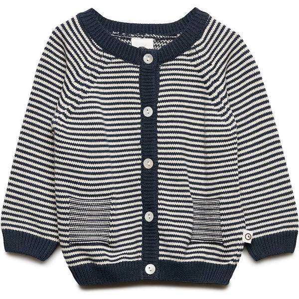 "müsli by green cotton ""Knit Stripe Cardigan"" Midnight 80/86"