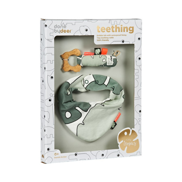 "Done By Deer ""Bib & Rattle"", Teething Gift Box"