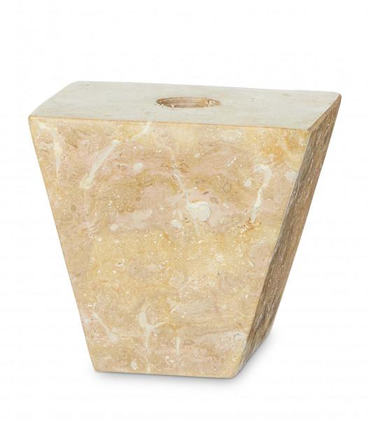 YAYA, Marble Pyramid Candleholder Upside Down, Salmon
