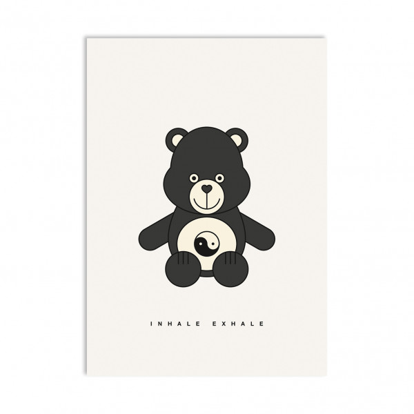 red fries, Postcard, Ying Yang Bear