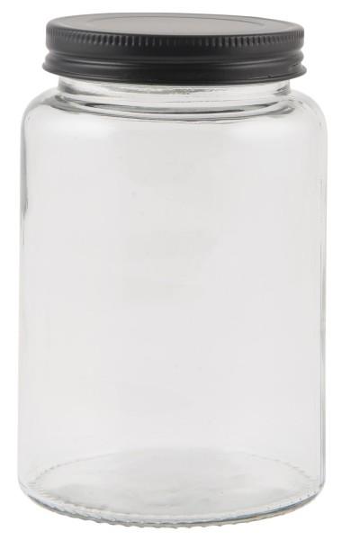 Ib Laursen, Glas mit schwarzem Deckel, 550ml