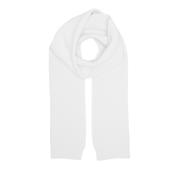 Merino Wool Scarf, Optical White