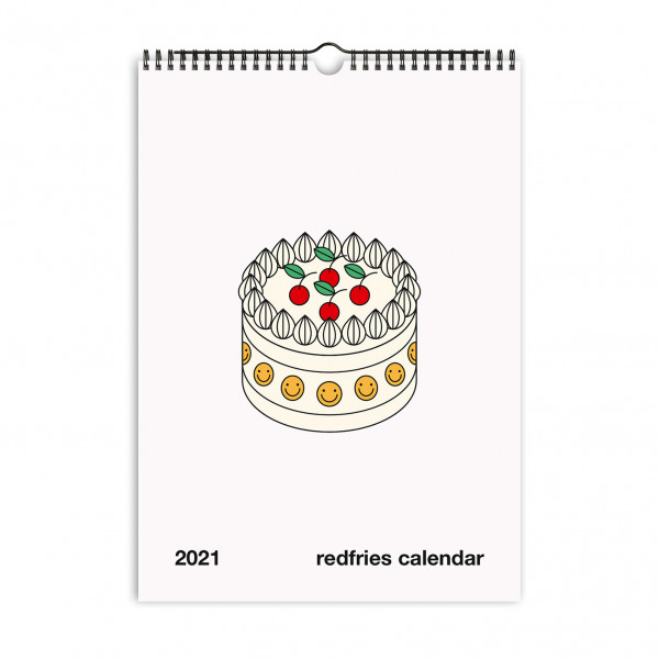 Red Fries, Monthly Calendar, Essential 2021