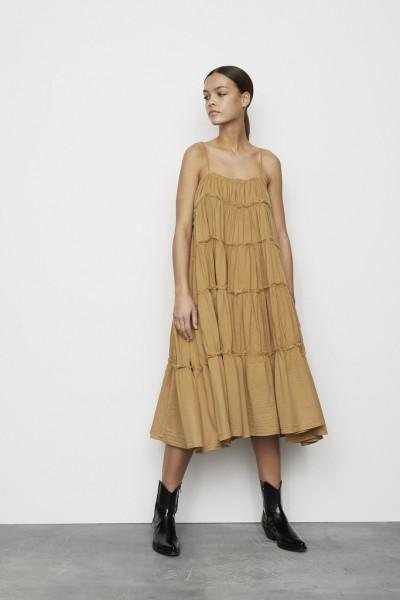 Rabens Saloner, Kadie, Cotton string long dress, Black