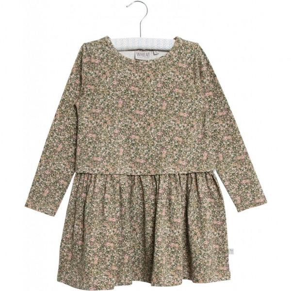 WHEAT, Dress Astrid, Green Flowers