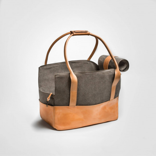 "Cloud7 ""Hundetasche Roma Canvas"" - Leder"