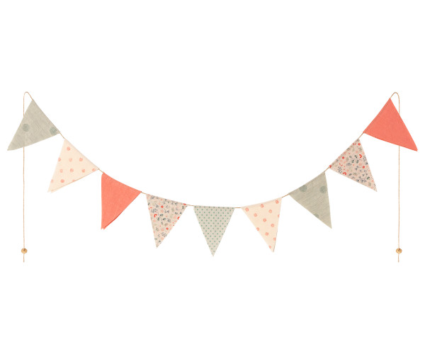 Maileg, Garland, 9 flags - Multi Color