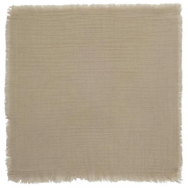 Ib Laursen, Stoffserviette doppelt gewebt, Sand, 40x40