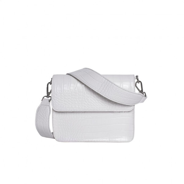 Hvisk, Cayman Shiny Strap Bag, White
