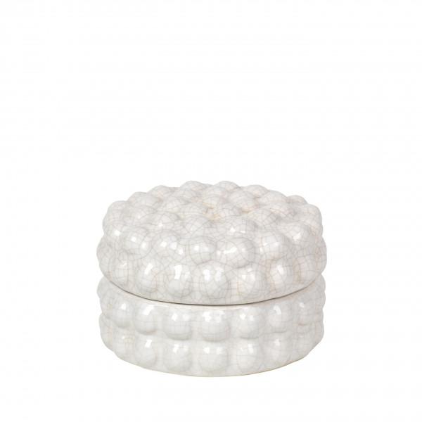 """Broste Copenhagen, Dekodose """"Dotty"""", Keramik Ivory"""