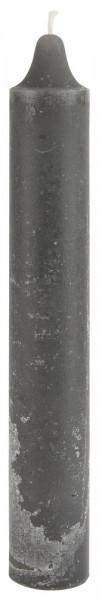 Ib Laursen, Rustikale Kerze, Dunkelgrau, H25cm Ø: 3,80cm