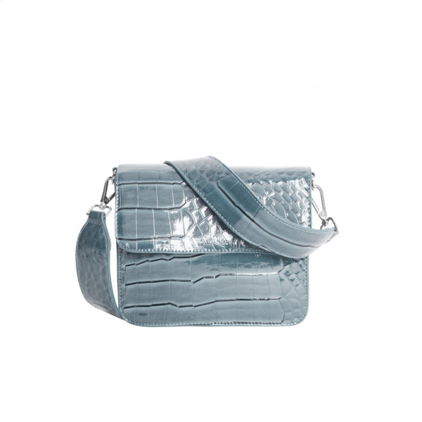 Hvisk,Cayman Shiny Strap Bag, Baby Blue