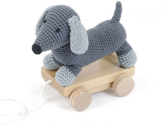 "Smallstuff ""Pull-along"" Dog, Grey"