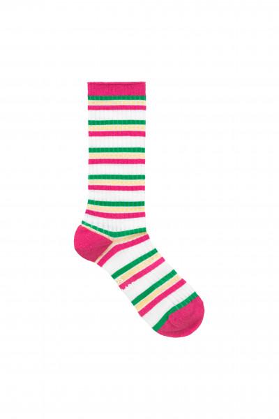 Mads Nørgaard, Viscose Andilla Socks, Dark Pink Multi