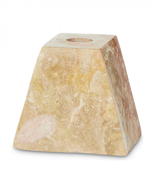 YAYA, Marble Pyramid Candleholder, Salmon