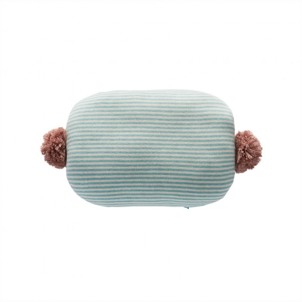 OYOY, Bonbon Cushion, Pale Blue/White