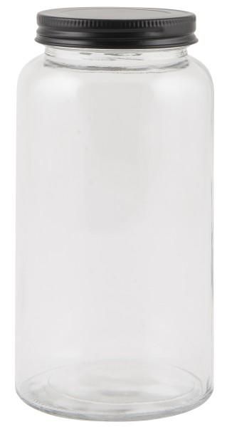 IbLaursen, Glas mit schwarzem Deckel 800ml