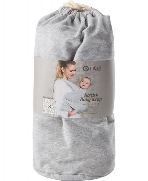 "Müsli, By Green Cotton ""Baby Wrap"" Pale Greymarl, 450x50"