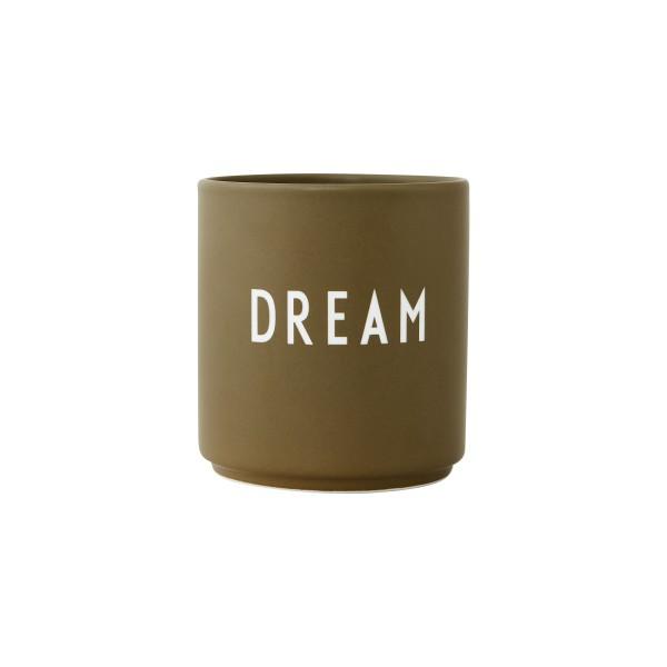 Design Letters, Favourite cups, DREAM, Olive