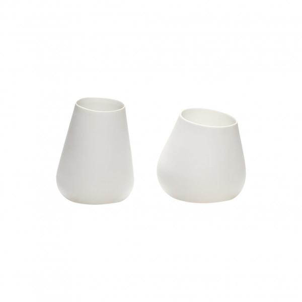 """Hübsch """"Teelichtglas"""" Porzellan, weiß"""