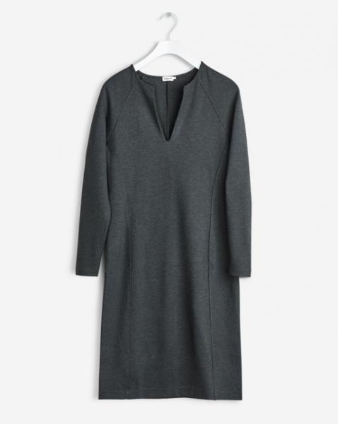 "Filippa K ""Jersey Split Dress"" Antracite Melange"