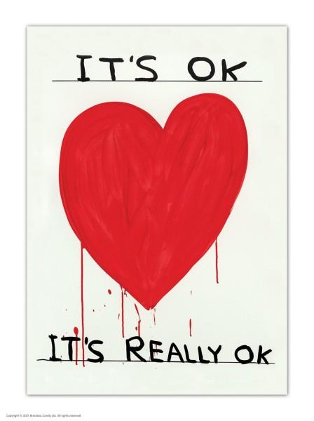 David Shrigley, Postkarte, It's OK