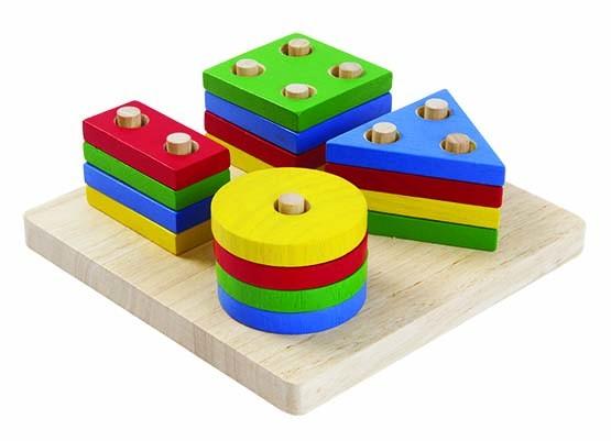 Plan Toys, Sortierbrett geometrische Formen