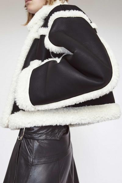 STAND Studio, Kristy Jacket, Faux Shearling Faux Fur, Black