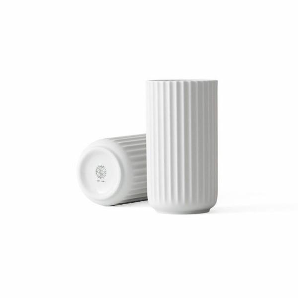 Lyngby, Vase, H15,5, weiß