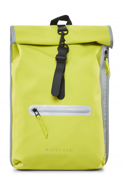 RAINS, LTD Roll Top Rucksack, Neon Yellow