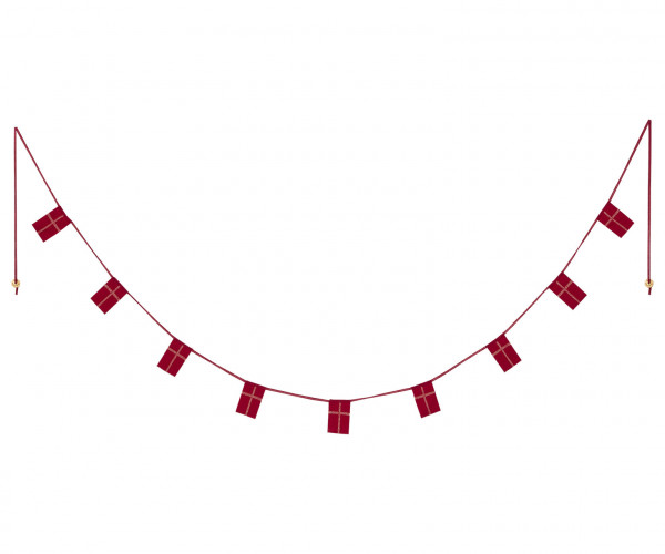 "Maileg ""Danish flag garland"" 170 cm / 9 flags"